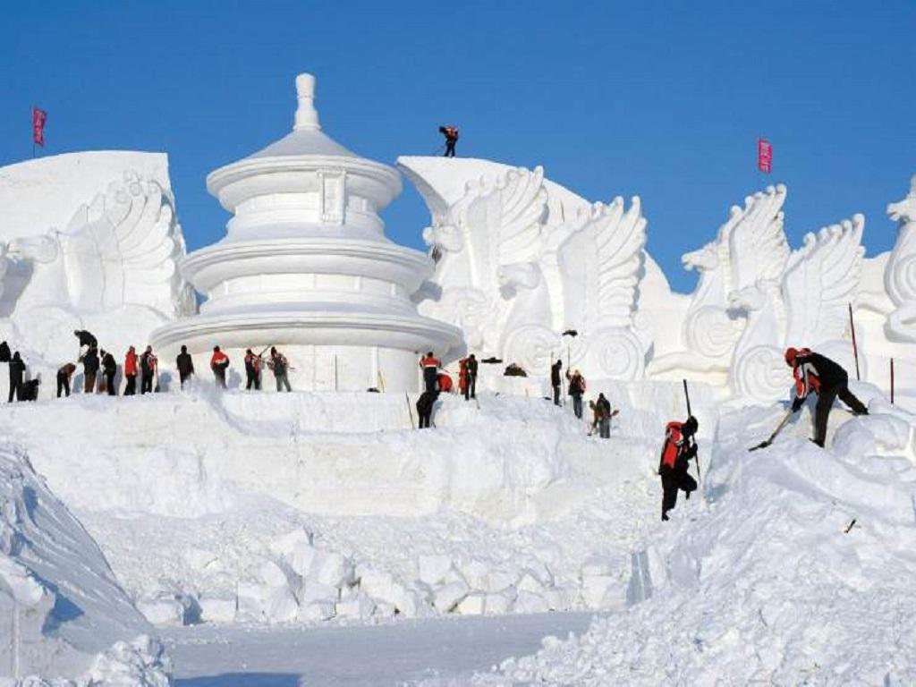 Snow sculpture雪雕