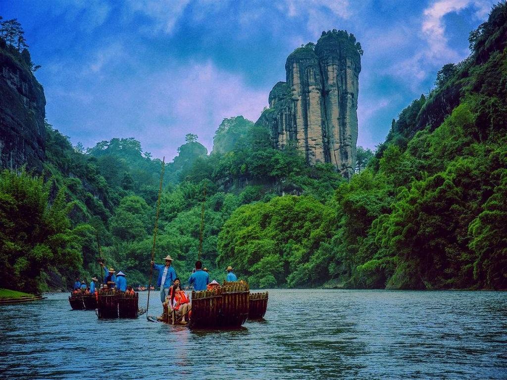 Jiuquxi  竹筏漂流九曲溪