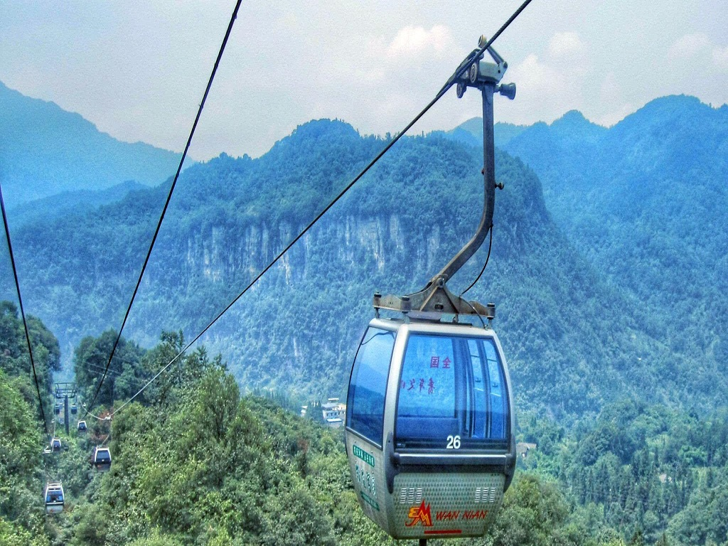Cable Car of Mt.Emei峨眉山缆车