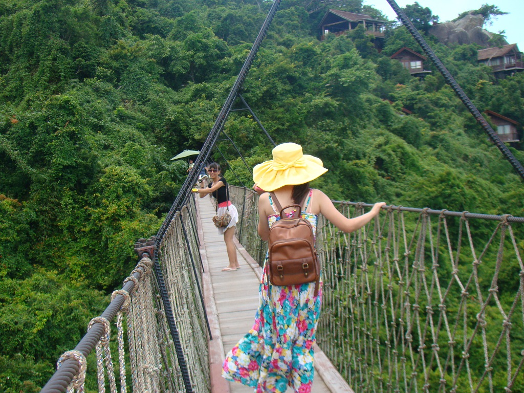 Dragon Bridge 亚龙湾热带天堂森林公园吊桥