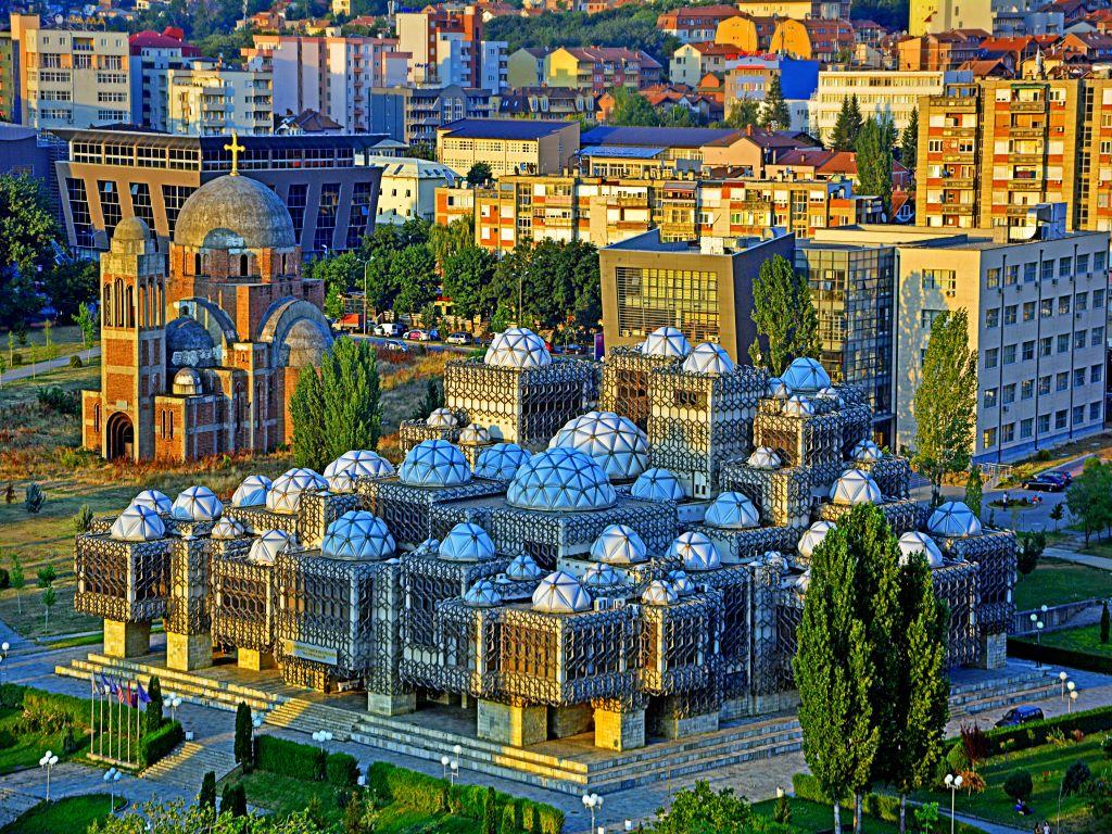 Day 09-04  National Library, Pristina (国家图书馆,普里什蒂纳)