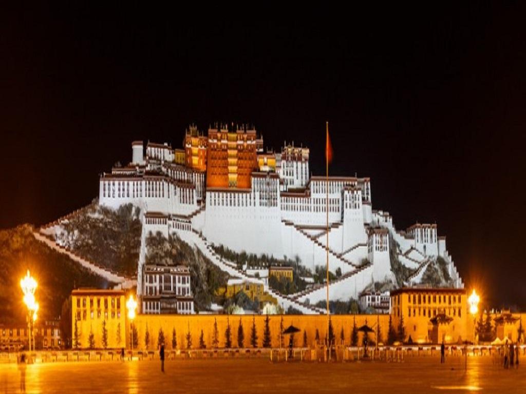 Potala Palace Night View布达拉宫夜景