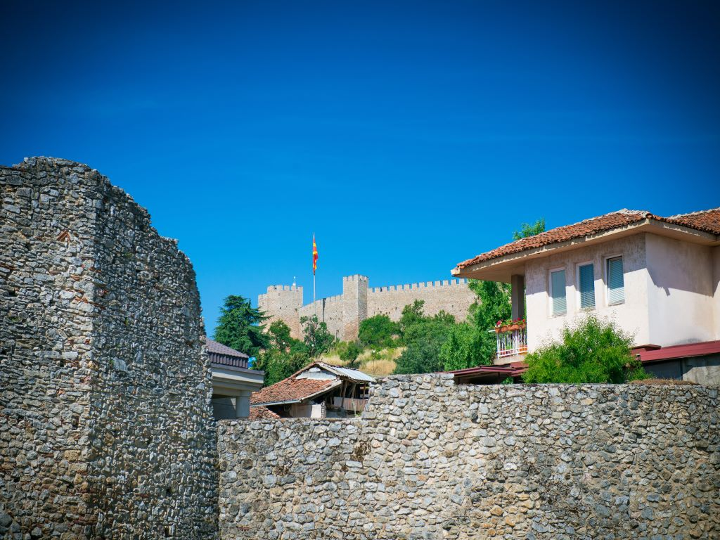 Day 07-06  Samuel Fortress from the Old Town,  Ohrid(老城区的沙皇石油堡垒,奥赫里德)