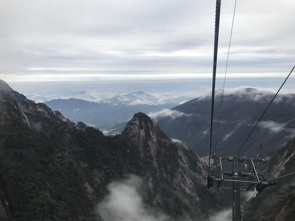 Huangshan Scenic Area Cable Car黄山风景区缆车