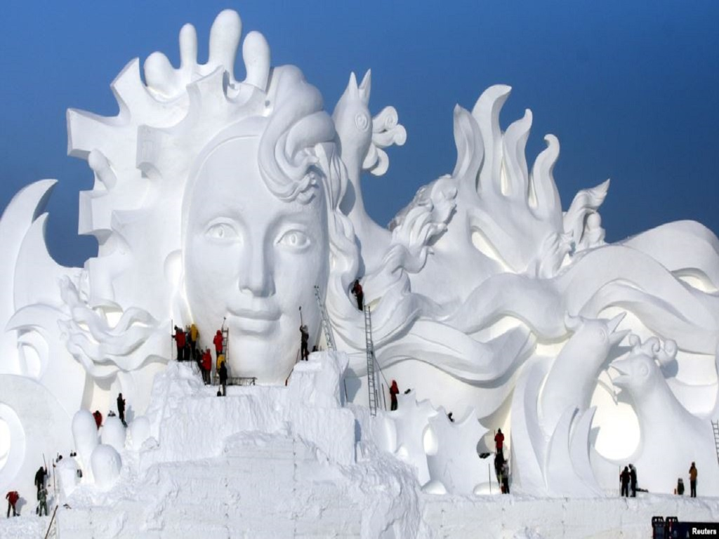 Snow sculpture 雪雕